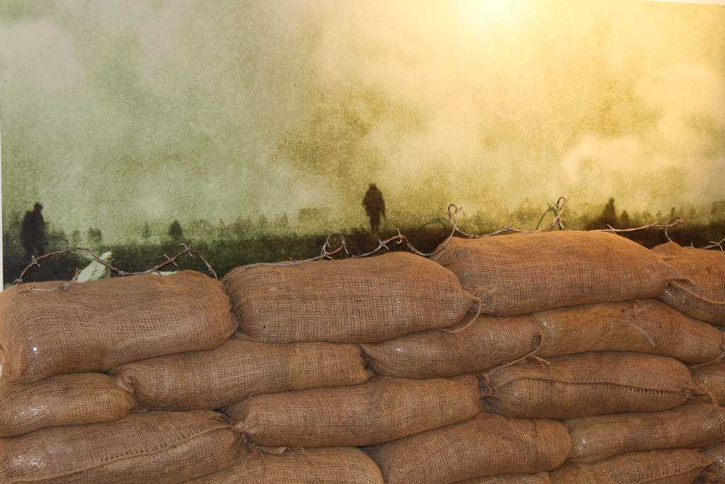 trench sand bags loos gas attack