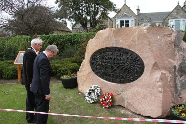 Memorial wreath laying